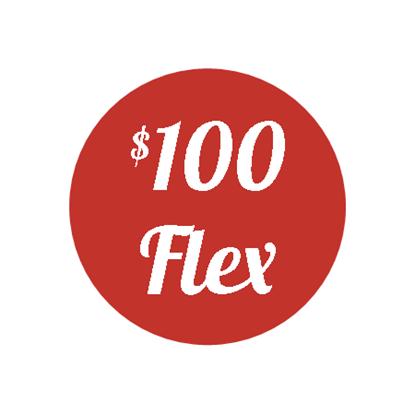 Plan F - $100 Flex Plan